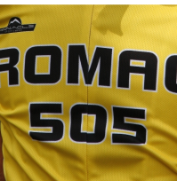Close-up of 2010 ROMAC 505 cycling jersey